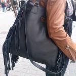 La sibèria bolso pell serrells negre
