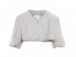 jaqueta pell blanca per nuvia