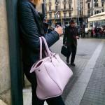 La Sibèria bolso pell mauro rosa